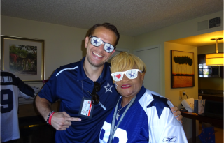 Matt Thornton and Dallas Cowboys Super Fan Ms. Carolyn Price - Dallas Entertainment Journal
