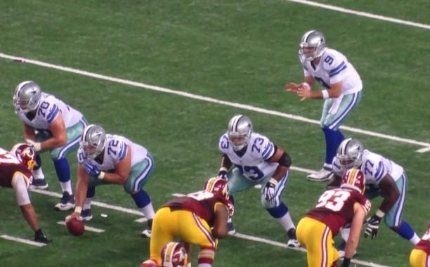 Dallas Cowboys Quarterback Tony Romo versus the Washington Redskins Monday October 27, 2014 - Mandatory Credit Matt Thornton