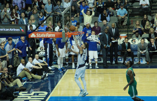 Chandler Parsons Leads Dallas Mavericks to Victory over Boston Celtics on Monday November 3, 2014.