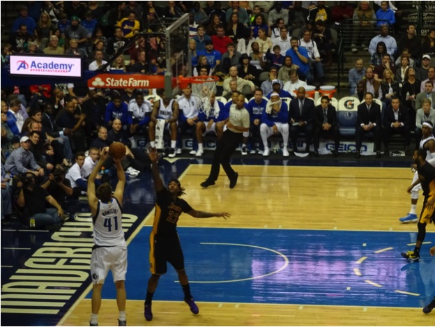 Dallas Mavericks Forward Dirk Nowitzki Passes Elvin Hayes for Eighth in NBA All-Time Scoring December 26,2014 - Mandatory Photo Credit Matt Thornton Dallas Entertainment Journal