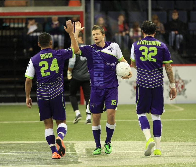 Dallas Sidekicks Cameron Brown And Freddy Moojen Net Hat