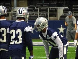 Dallas Cowboys CB Byron Jones during mandatory minicamp June 19, 2015. Mandatory Photo Credit Matt Thornton