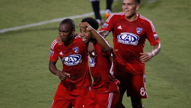 FC Dallas Forward Kellyn Acosta from Plano, Texas Scores his first MLS goal Saturday night against DC United.