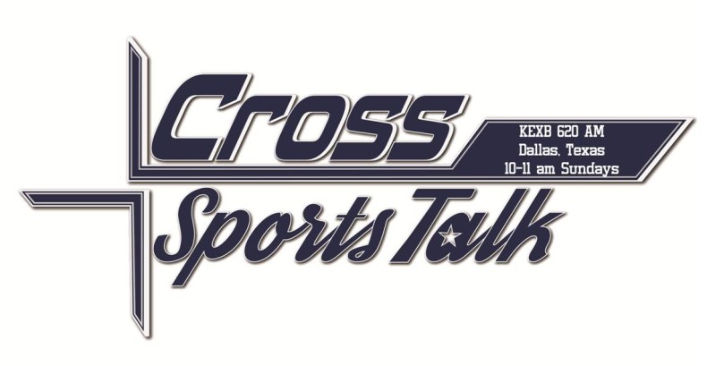 Cross Sports Talk radio show on KEXB 620 AM with host Matt Thornton, co-host Eugene The Hitting Machine Lockhart, Executive Producer Jim Doc Proctor, and Producer Chris Avery.