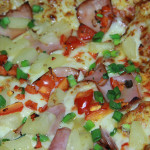 Hawaiian Pizza with Thai sauce